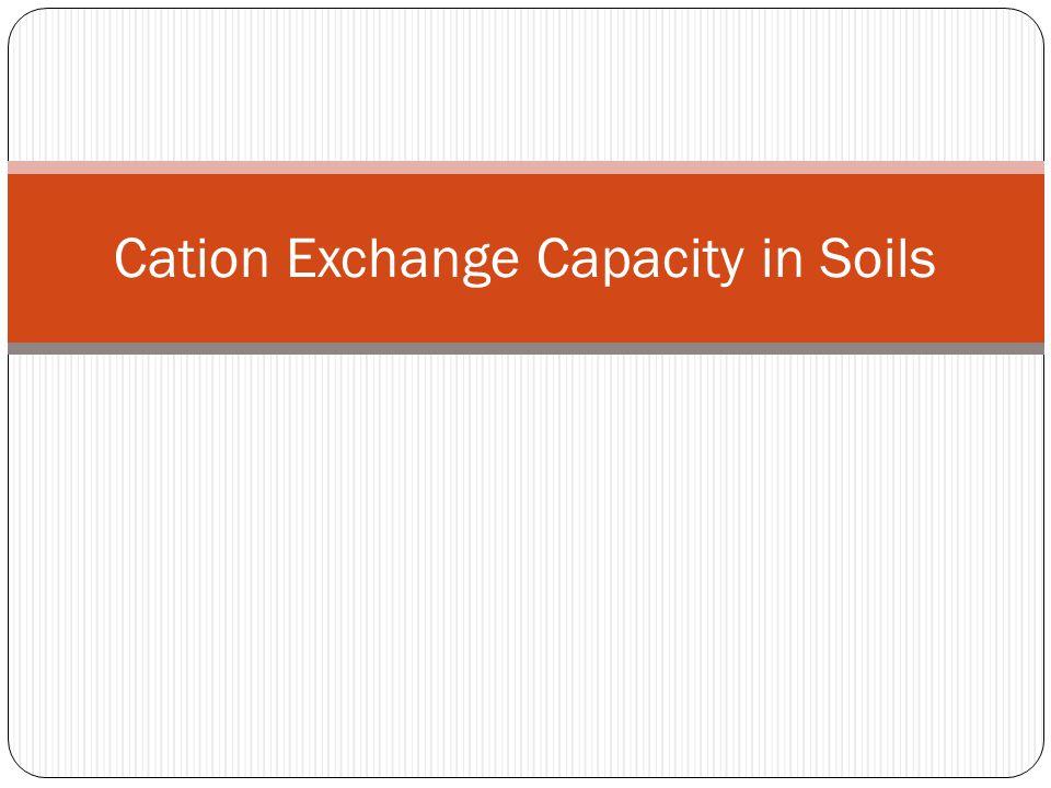 Cation Exchange Capacity in Soils