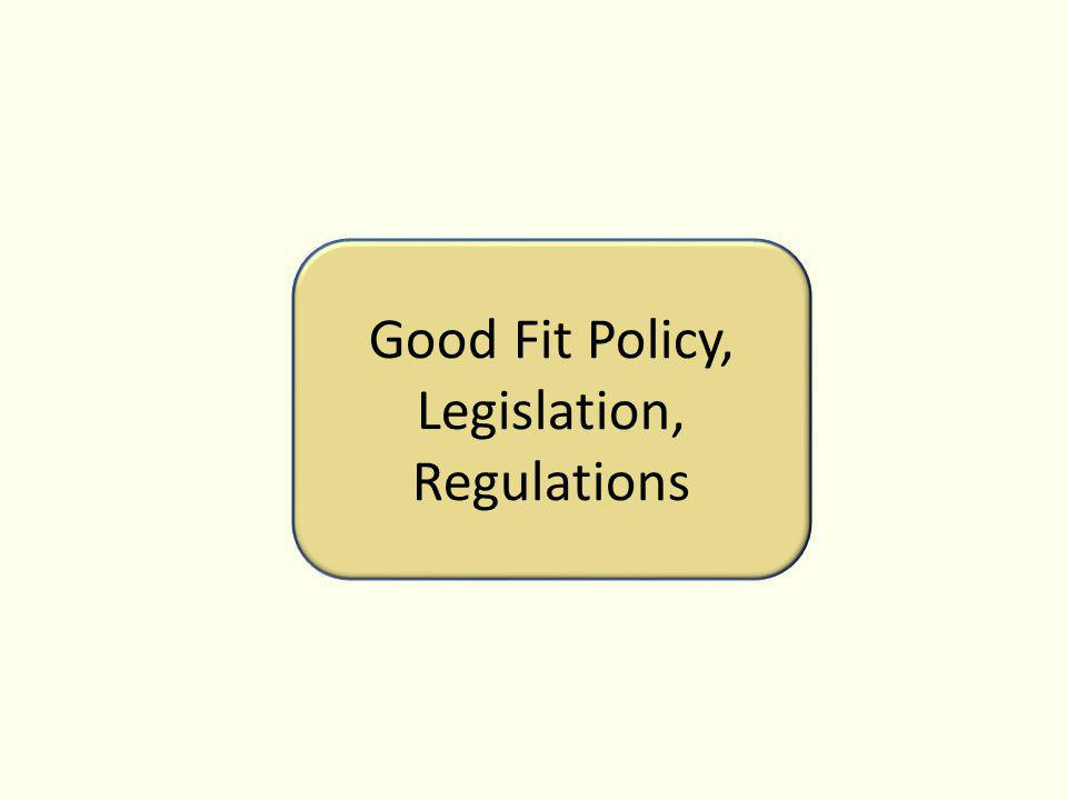 Good Fit Policy, Legislation, Regulations