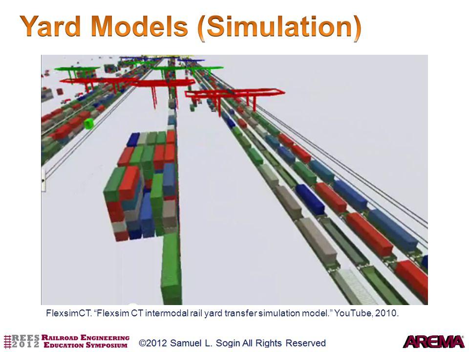 FlexsimCT. Flexsim CT intermodal rail yard transfer simulation model. YouTube, 2010.