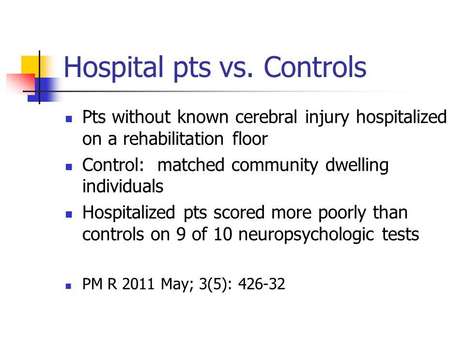 Hospital pts vs.