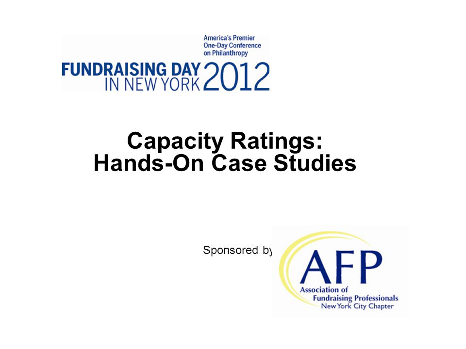Capacity Ratings: Hands-On Case Studies Sponsored by