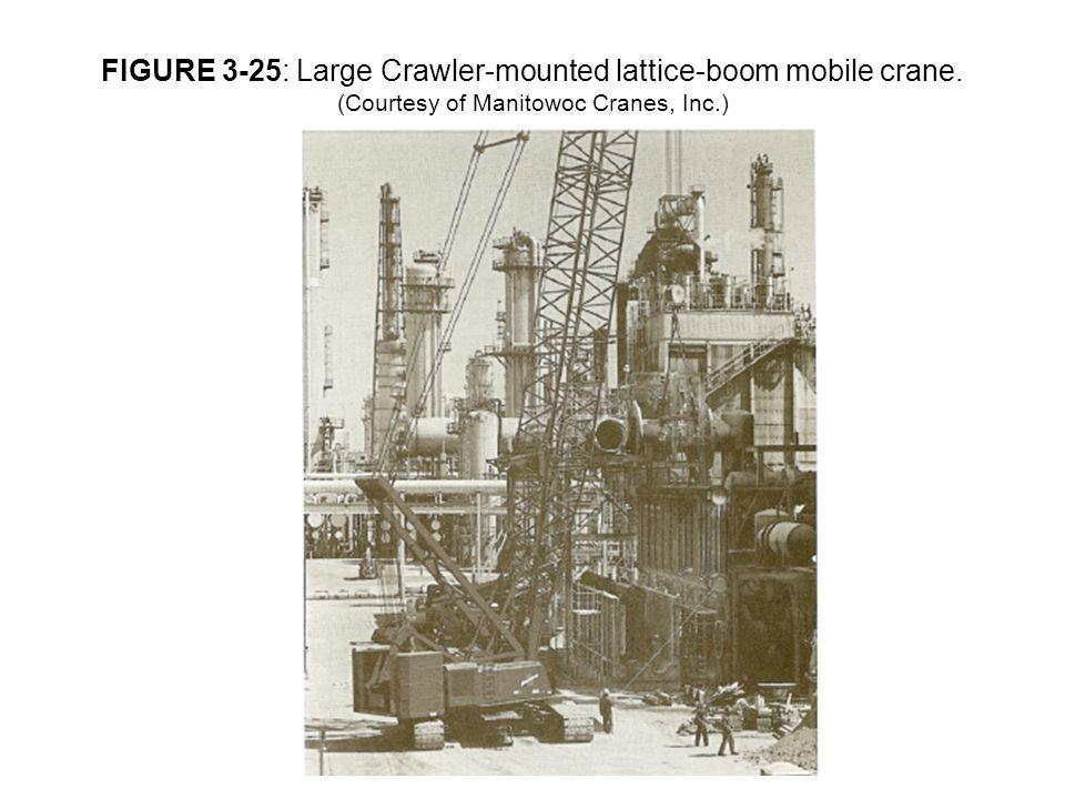 FIGURE 3-25: Large Crawler-mounted lattice-boom mobile crane. (Courtesy of Manitowoc Cranes, Inc.)