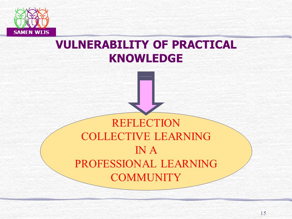 SAMEN WIJS 15 VULNERABILITY OF PRACTICAL KNOWLEDGE REFLECTION COLLECTIVE LEARNING IN A PROFESSIONAL LEARNING COMMUNITY