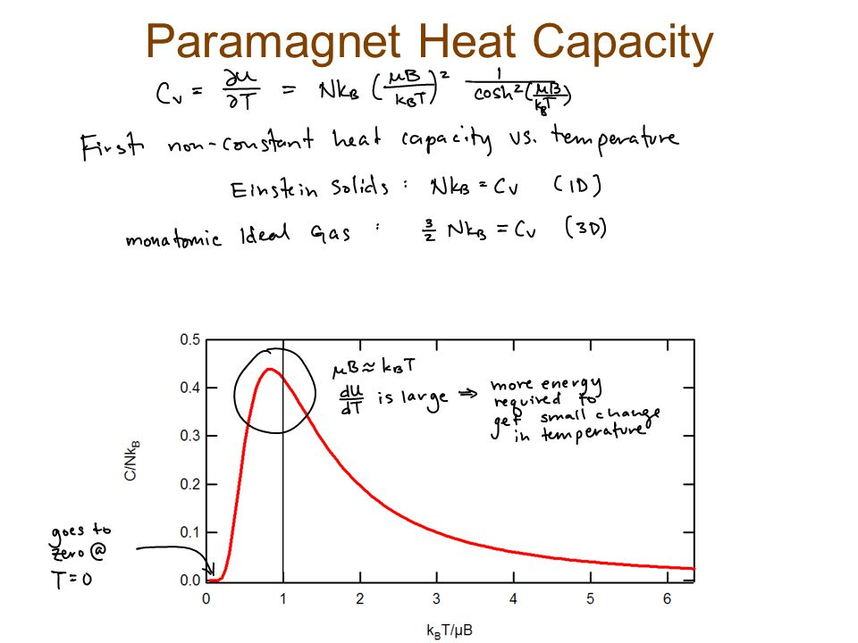 Paramagnet Heat Capacity