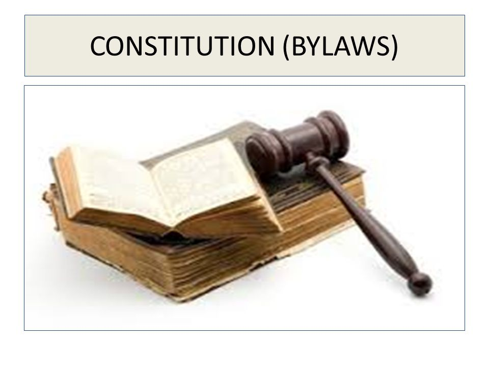 CONSTITUTION (BYLAWS)