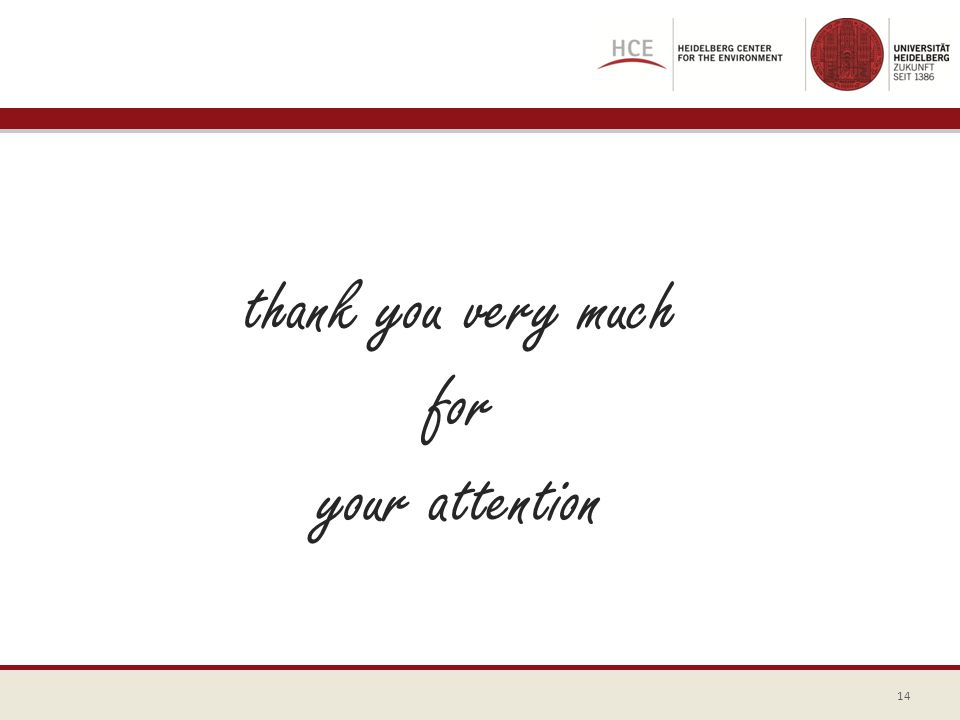 thank you very much for your attention 14