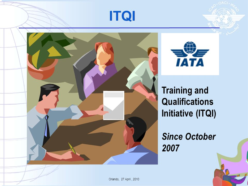 ITQI Deliverables & ICAO Documentation Engineering & maintenance Procedures for competency-based training to be included in ICAO Doc 9868 – PANS- Training Guidelines for approved training organizations to be included in amended ICAO Doc 9841 - Approval of Flight Crew Training Organizations Flight operations Procedures for Evidence- based training to be included in ICAO Doc 9868 – PANS- Training with supporting guidance in a manual Procedures for MPL Instructor and Evaluator qualifications to be included in ICAO Doc 9868 – PANS- Training 5