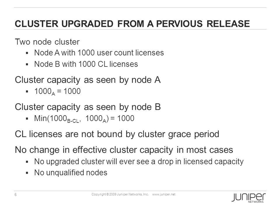 17 Copyright © 2009 Juniper Networks, Inc.www.juniper.net License Server Required .