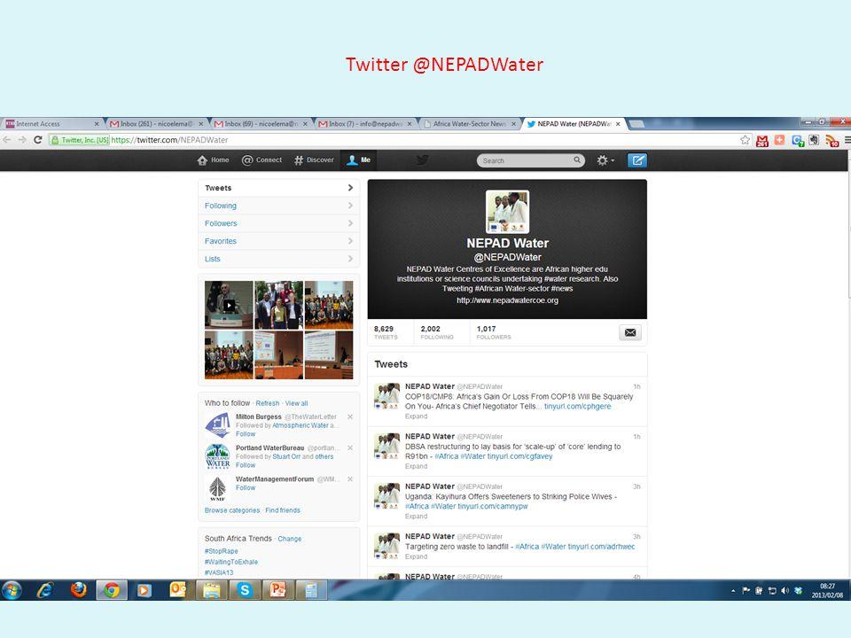 Twitter @NEPADWater