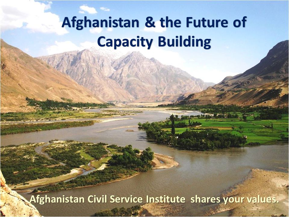 Afghanistan Civil Service Institute shares your values.