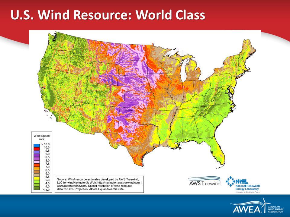 U.S. Wind Resource: World Class