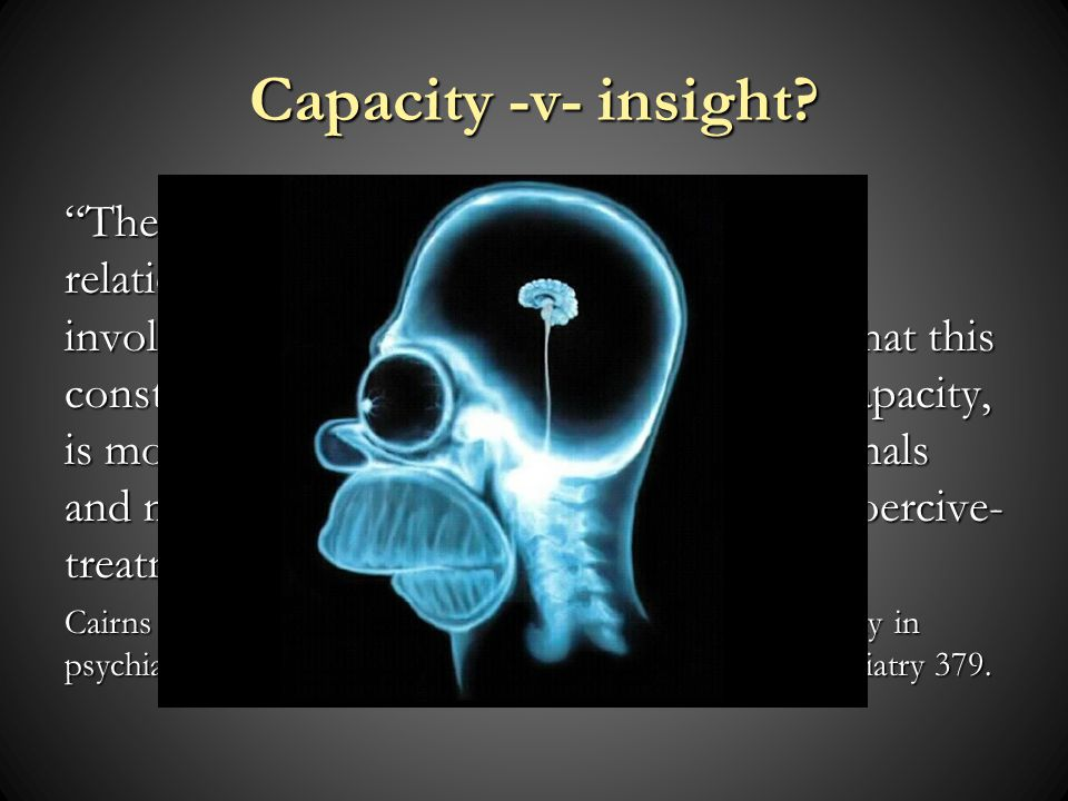Capacity -v- insight.