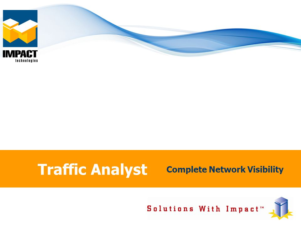 Traffic Analyst Complete Network Visibility