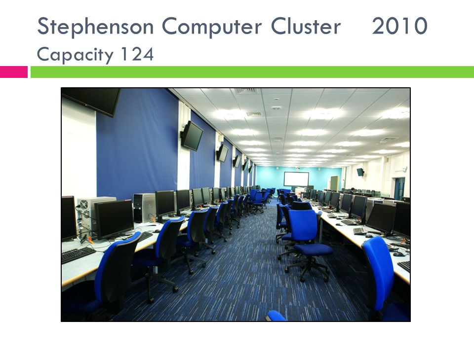 Stephenson Computer Cluster 2010 Capacity 124