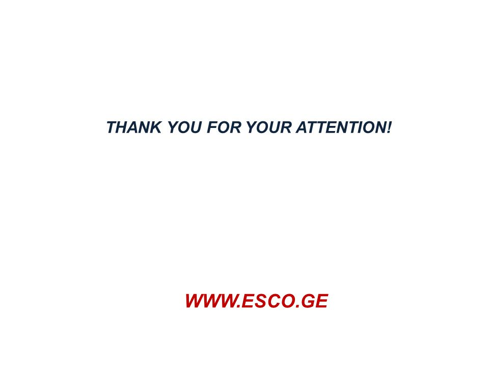 WWW.ESCO.GE THANK YOU FOR YOUR ATTENTION!