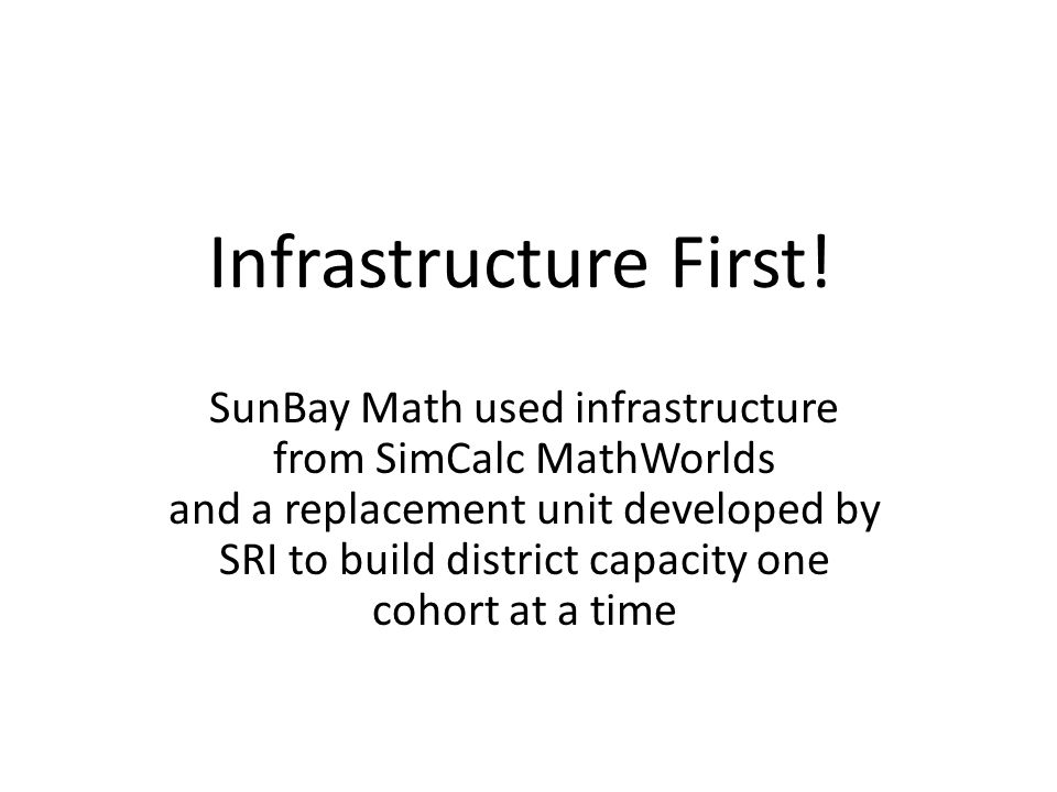 Infrastructure First.