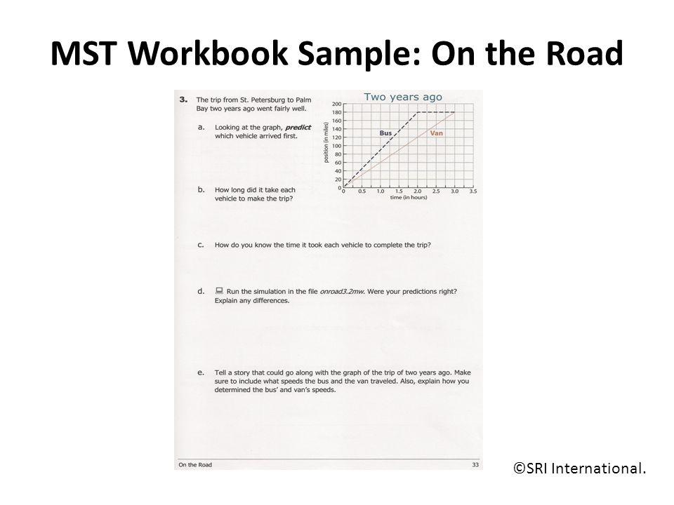MST Workbook Sample: On the Road ©SRI International.