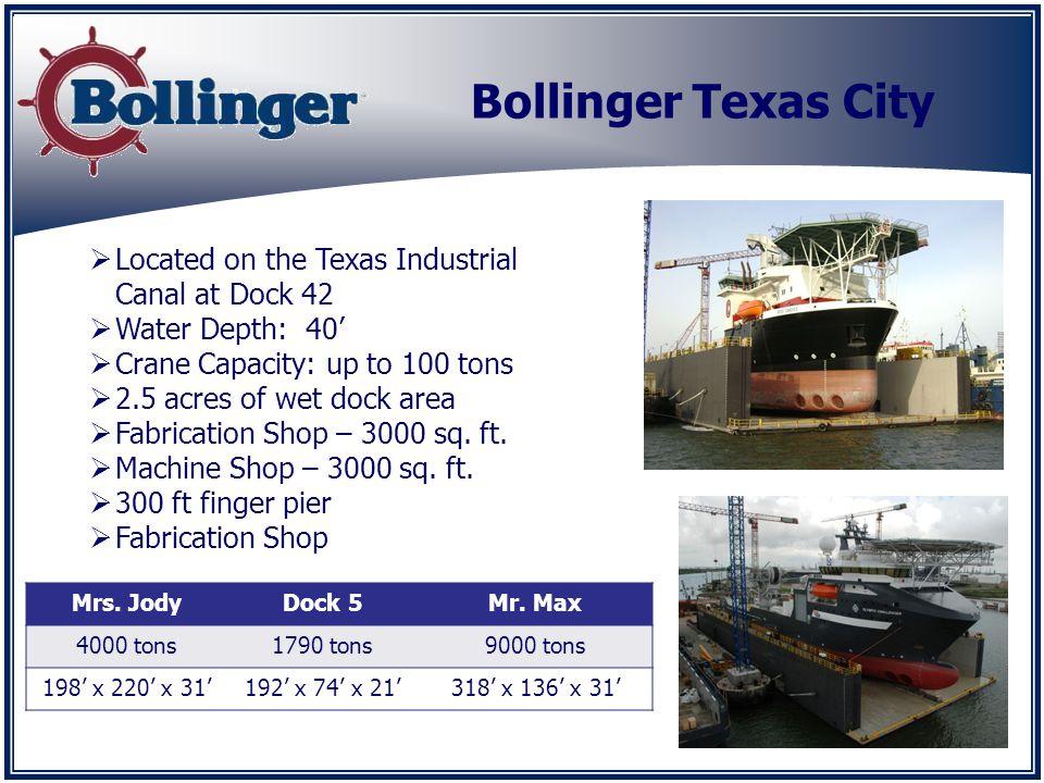 Bollinger Texas City Mrs. JodyDock 5Mr.