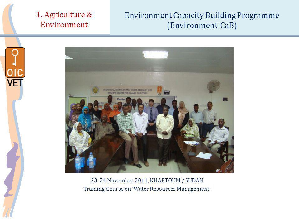 23-24 November 2011, KHARTOUM / SUDAN Training Course on Water Resources Management 1.
