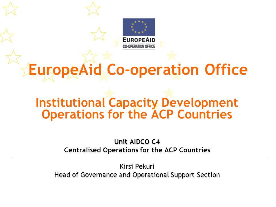 Presentation Content 1.Programming the European Development Fund (EDF) 2.