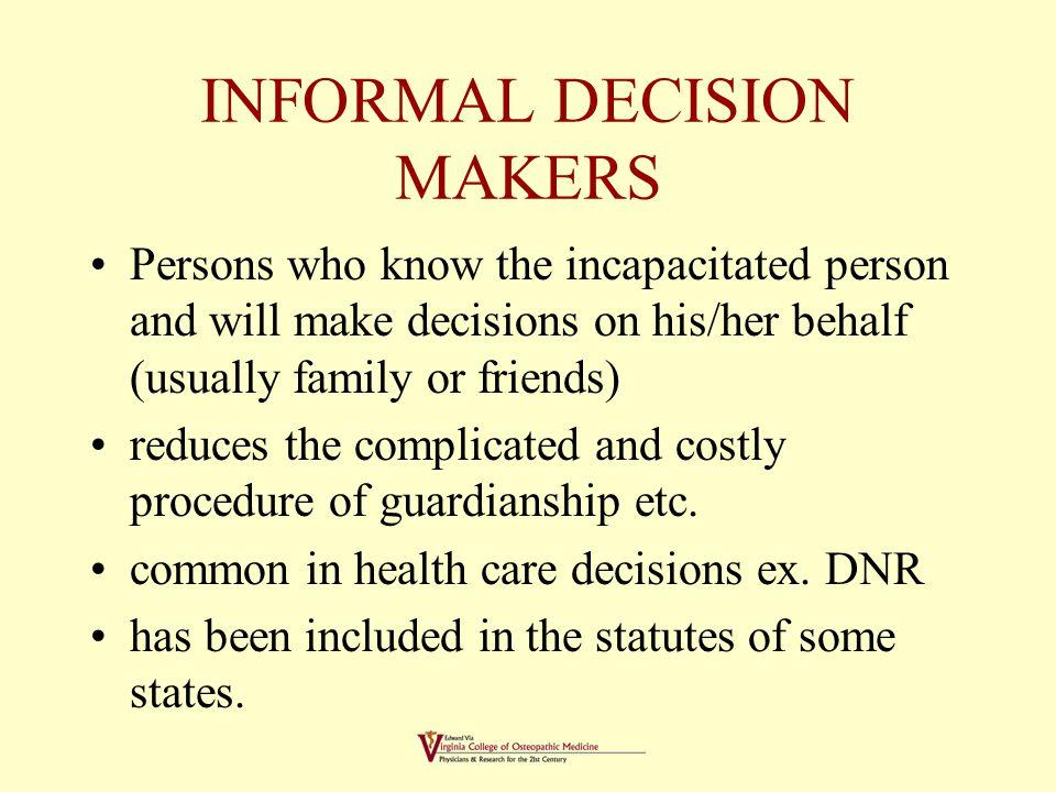 Decision Maker Temporarily Assigned