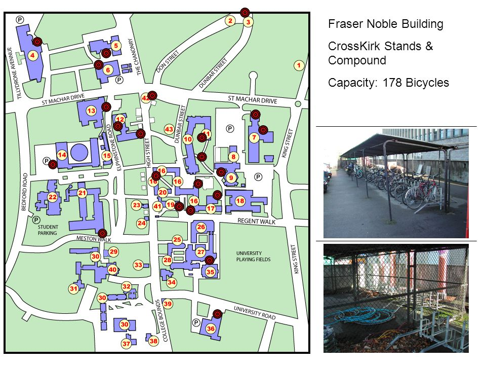 Fraser Noble Building CrossKirk Stands & Compound Capacity: 178 Bicycles