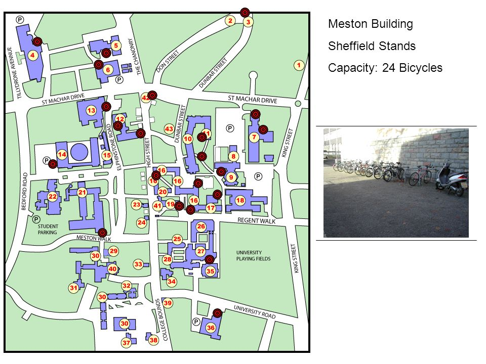 Meston Building Sheffield Stands Capacity: 24 Bicycles