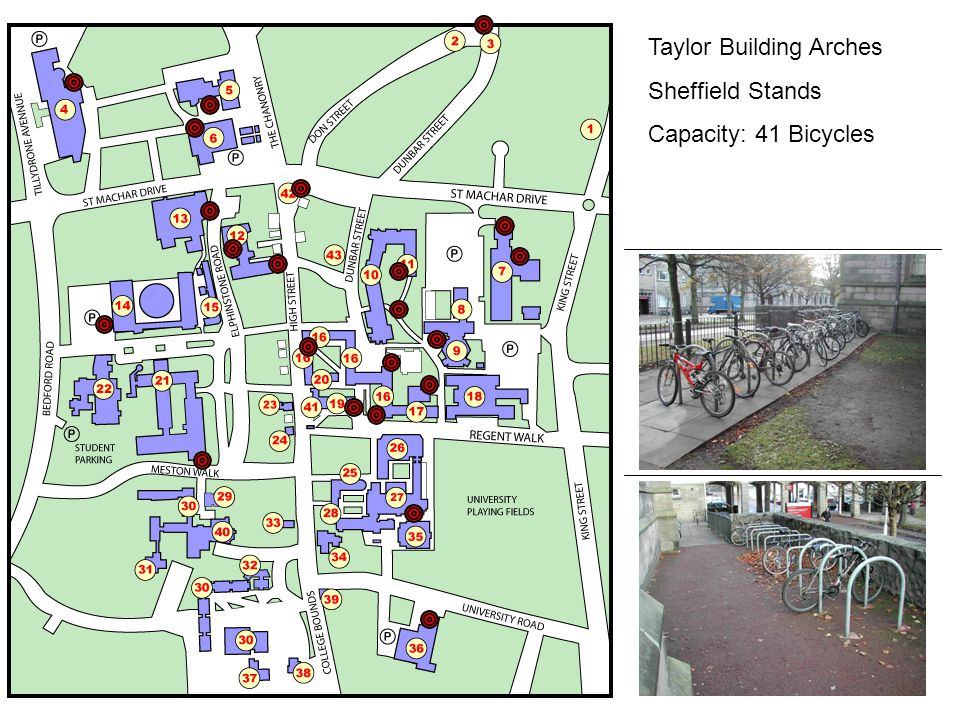 Taylor Building Arches Sheffield Stands Capacity: 41 Bicycles