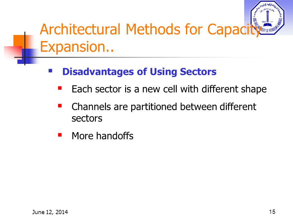 June 12, 201415 Architectural Methods for Capacity Expansion..