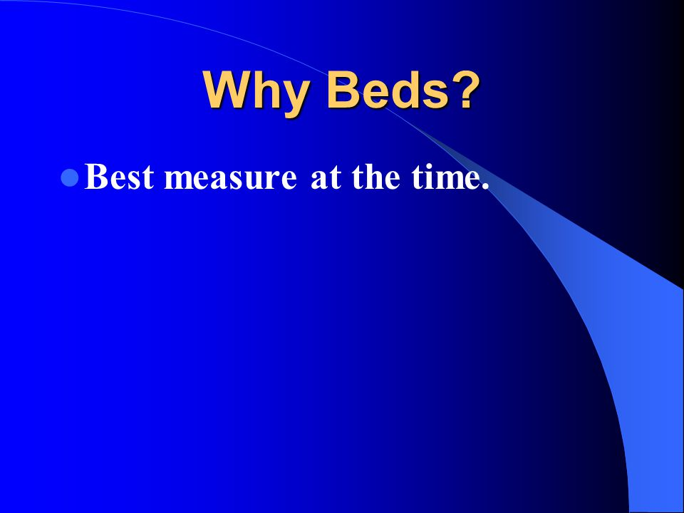 Why Beds Best measure at the time.