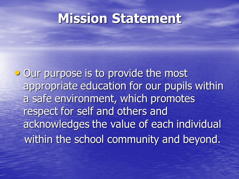 Aims To provide pupils with a stimulating, challenging and supportive learning environment in which confidence, motivation and success are cultivated.