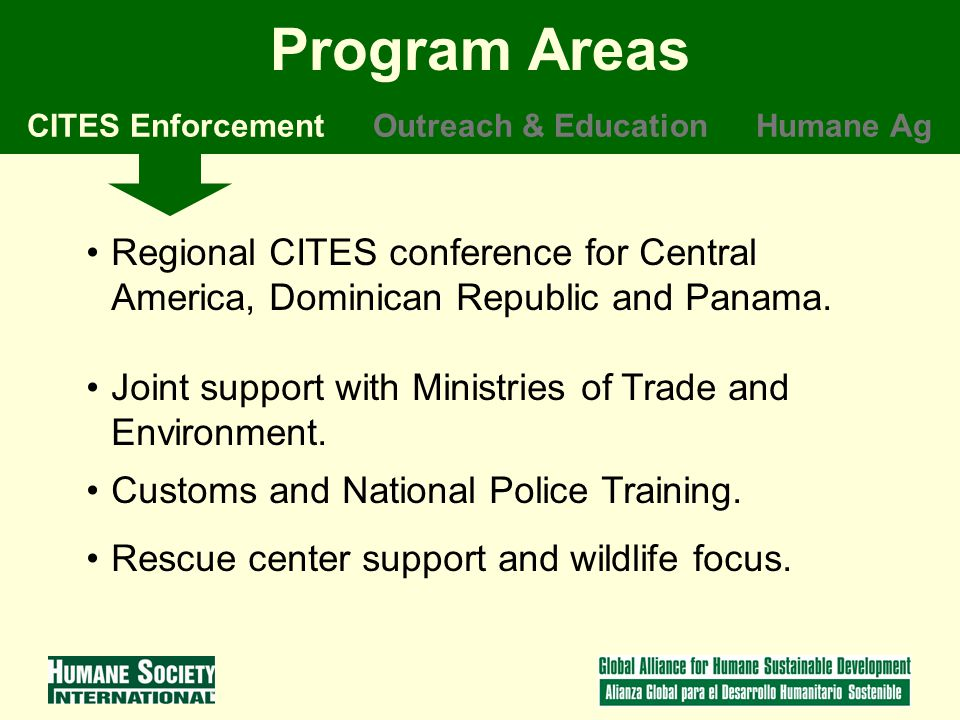Regional CITES conference for Central America, Dominican Republic and Panama.
