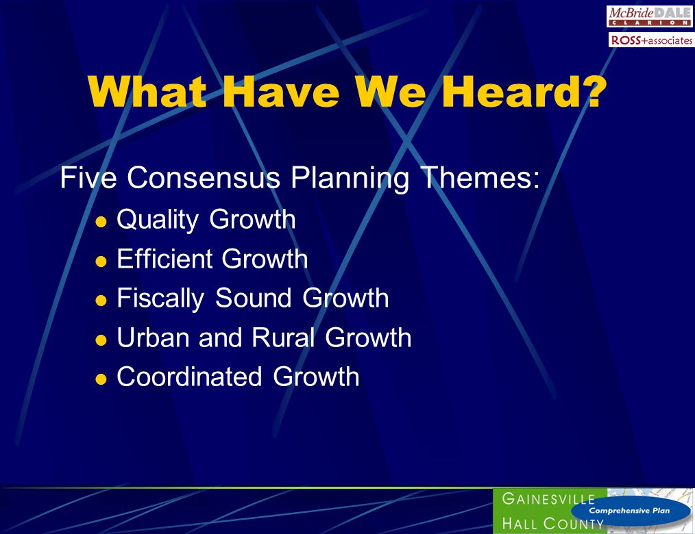 Five Attributes of Growth Location of Growth Amount of Growth Rate and Timing of Growth Fiscal Impact of Growth Quality and Environmental Impact of Growth