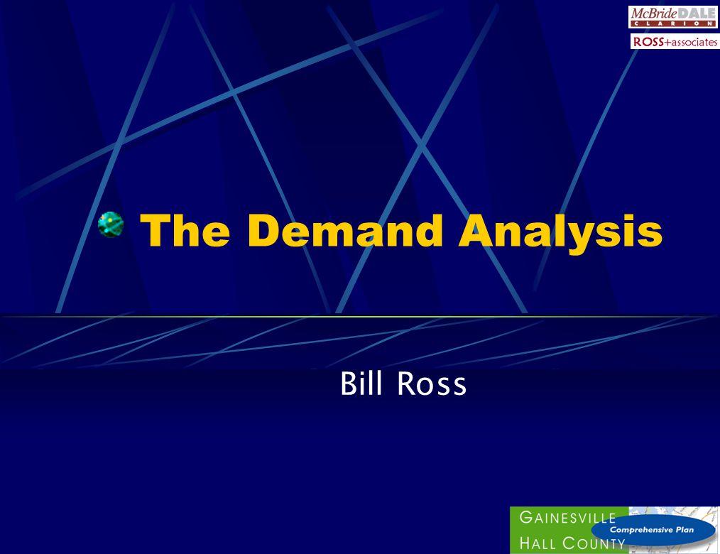 Demand Analysis Methodology 1.Population and employment forecasts 2.