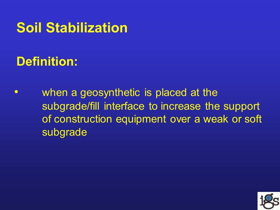 Installation Prepare the ground Unroll the geosynthetic Back dump aggregate Spread the aggregate Compact the aggregate