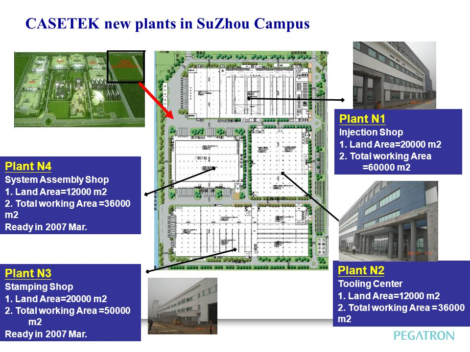 CASETEK new plants in SuZhou Campus Plant N4 System Assembly Shop 1.