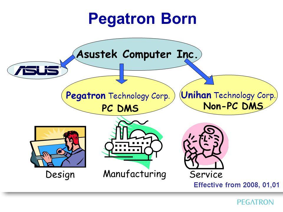 Pegatron Born Asustek Computer Inc. Manufacturing DesignService 43% Pegatron Technology Corp.