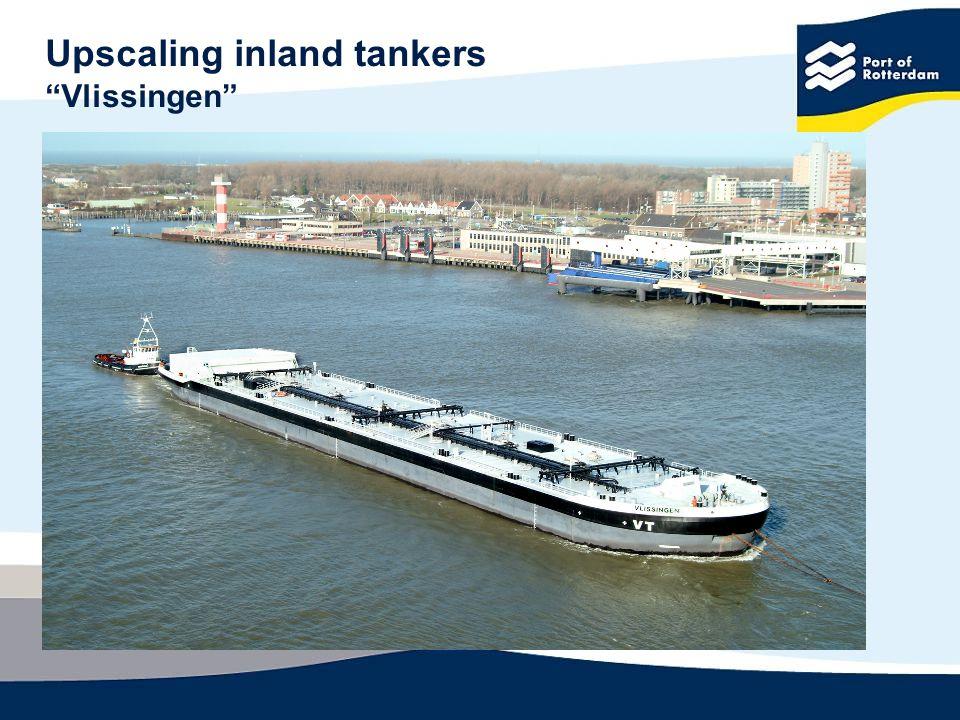 Upscaling inland tankers Vlissingen