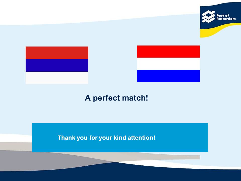 Thank you for your kind attention! A perfect match!