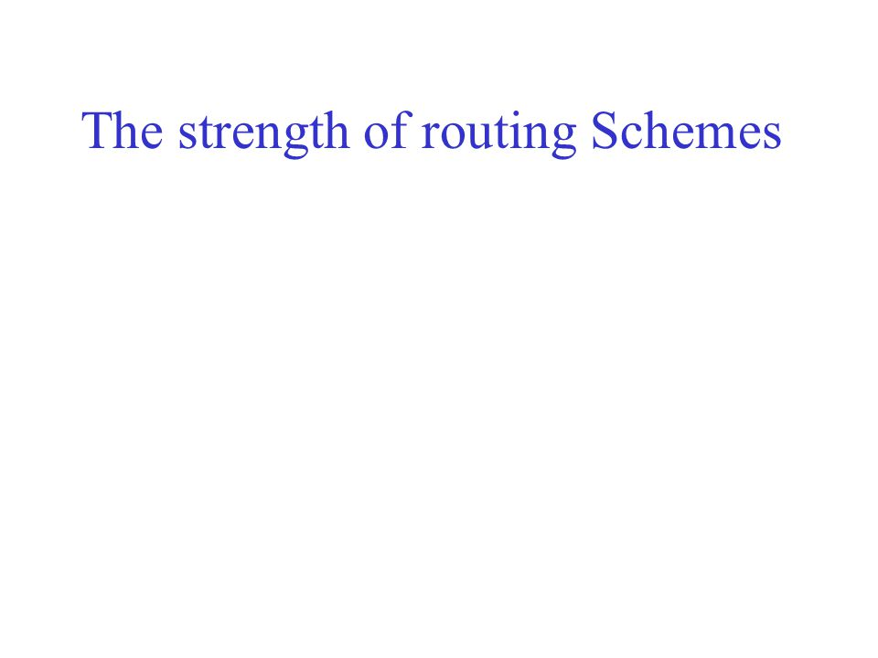The strength of routing Schemes
