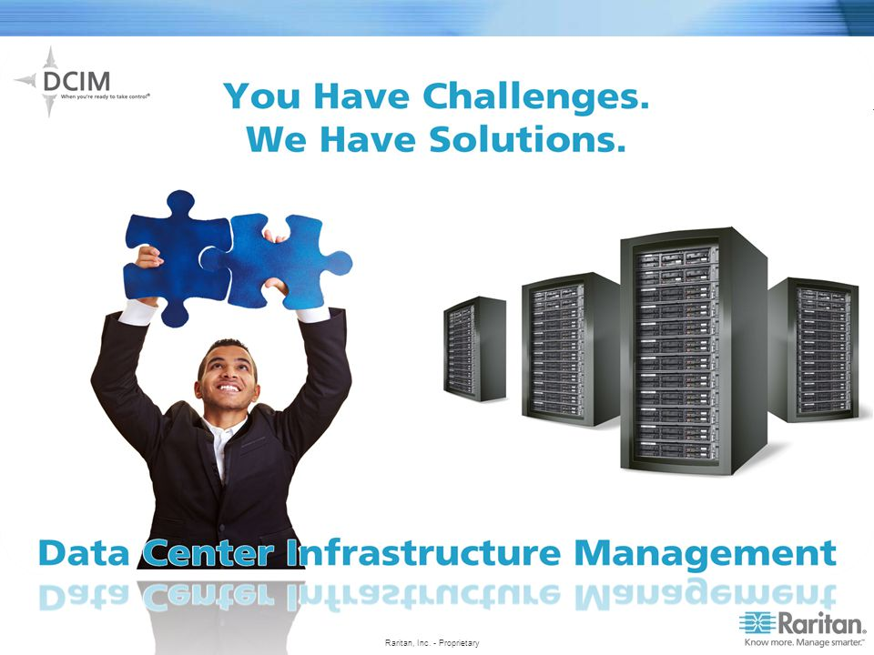 Locating assets Knowing what is connected to what (managing relationships and dependencies) Finding available resources (rack space, power, cooling, network, IP addresses, etc.) Making accurate capacity planning Managing changing and enforce best practices/processes Complying with internal/external regulatory audits