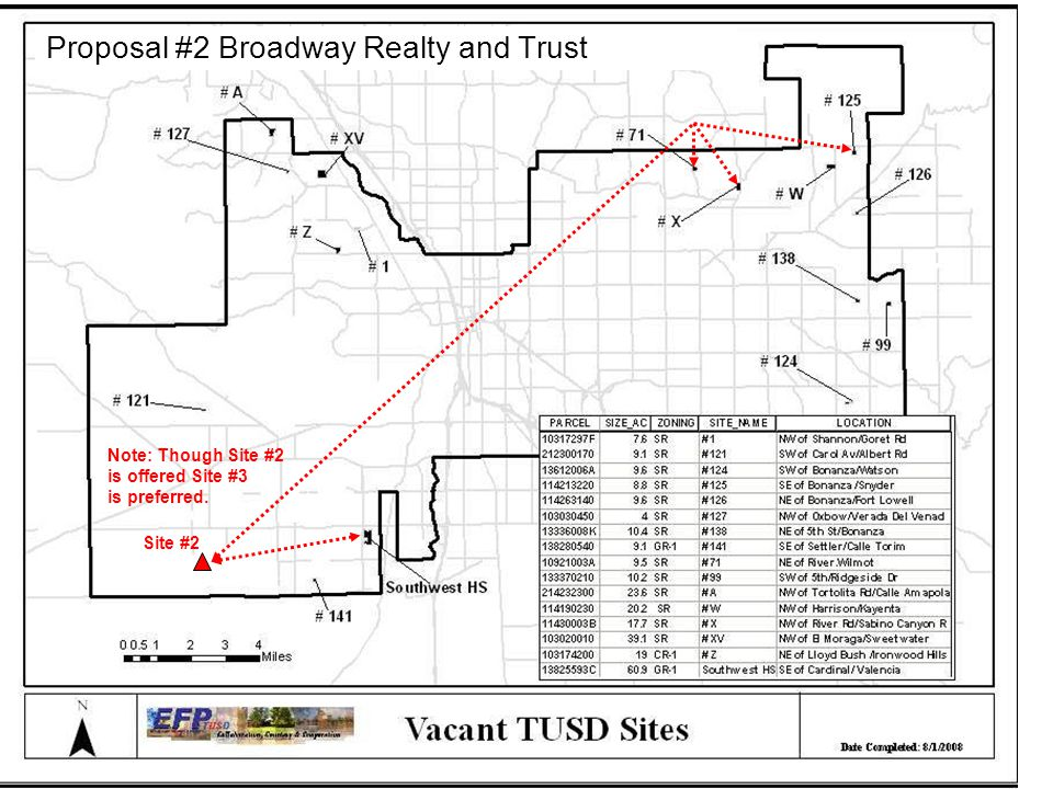 Site #2 Note: Though Site #2 is offered Site #3 is preferred. Proposal #2 Broadway Realty and Trust