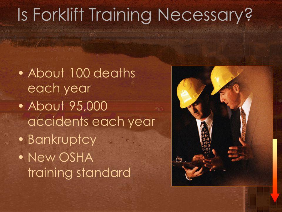 29 CFR 1910.178 Forklift Operator Training