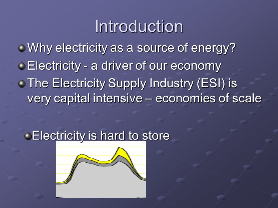 Introduction Why electricity as a source of energy.