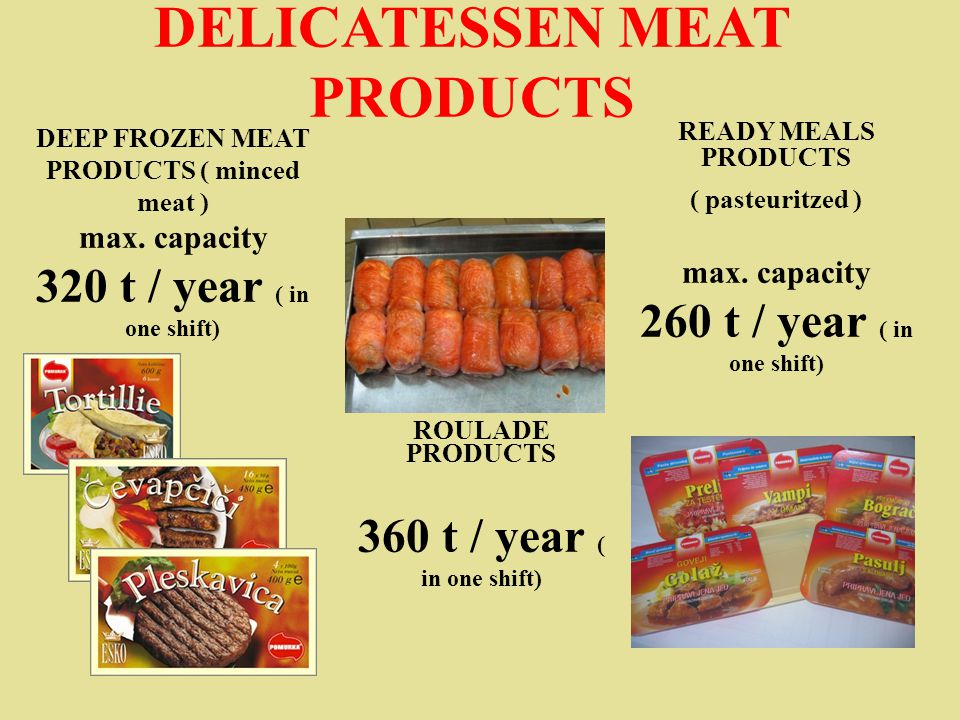 DEEP FROZEN MEAT PRODUCTS ( minced meat ) max.