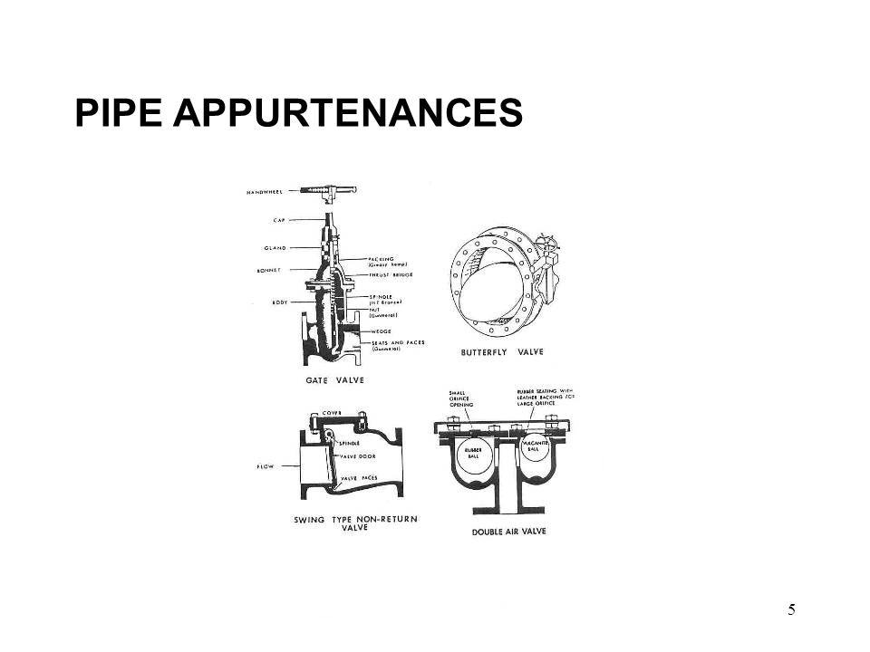 5 PIPE APPURTENANCES