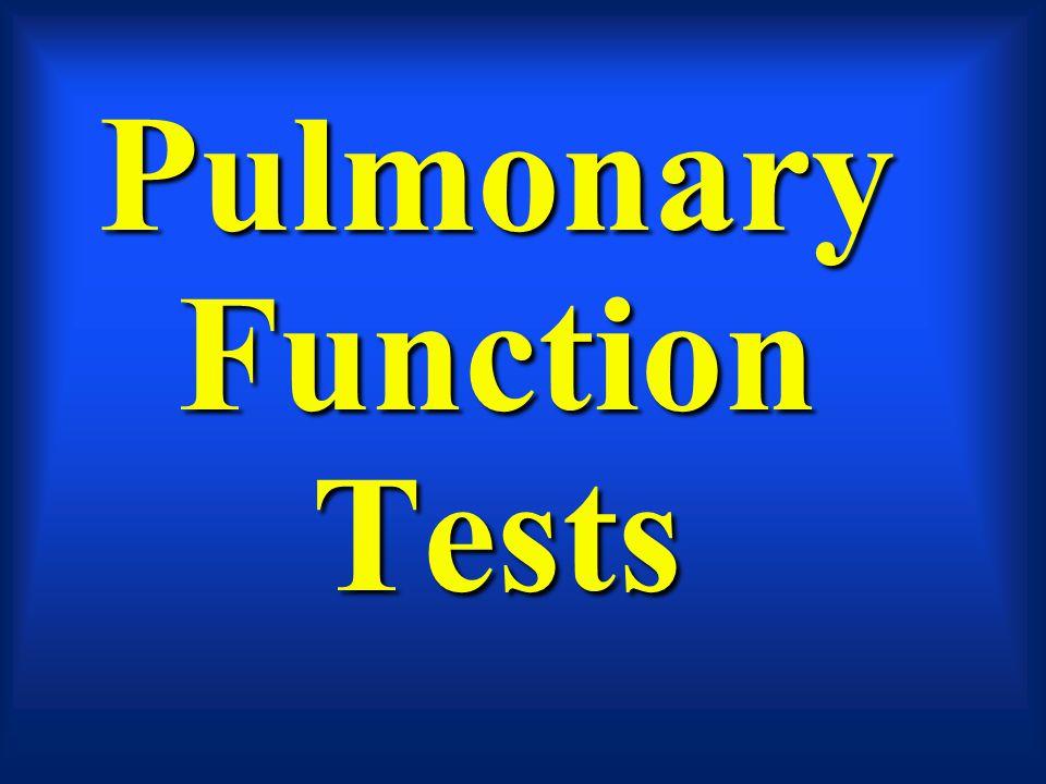 Capacities Total Lung CapacityTotal Lung Capacity –TLC = IC + FRC –TLC = RV + ERV + VT + IRV Functional Residual Capacity –FRC = RV + IRV Vital Capacity –VC = ERV + VT + IRV –VC= ERV + IC