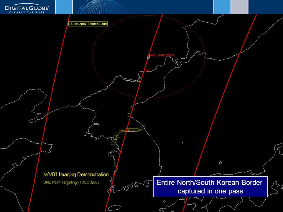 6/12/2014DigitalGlobe Proprietary14 Entire North/South Korean Border captured in one pass