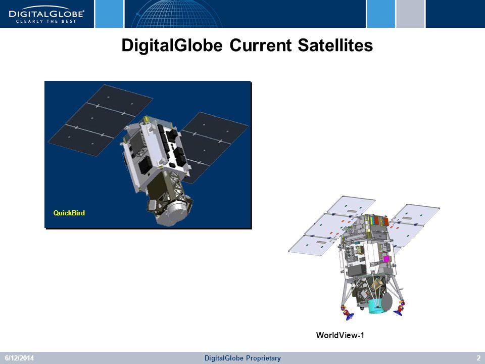 6/12/2014DigitalGlobe Proprietary2 DigitalGlobe Current Satellites QuickBird WorldView-1