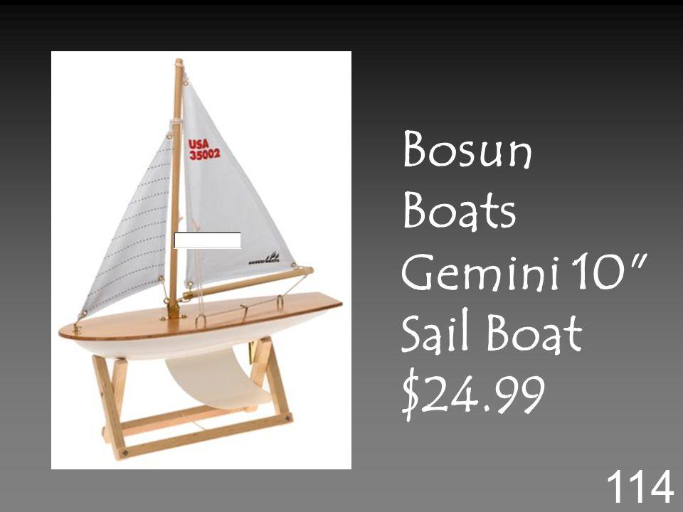 Bosun Boats Gemini 10 Sail Boat $24.99 114
